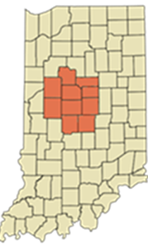 Photo_Indiana Map with Counties Shaded